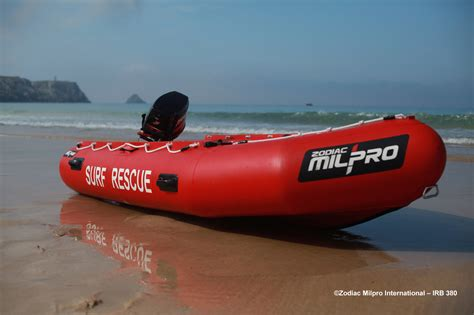 inflatable rescue boat zodiac milpro irb zmsr 380 professional inflatable rescue boat
