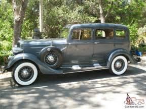 1934 dodge dr series sedan dual side mounts original