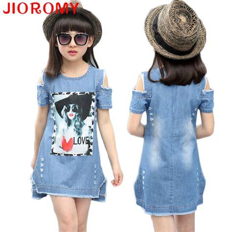 jeans dress pattern children dresses for girls denim dress summer strapless