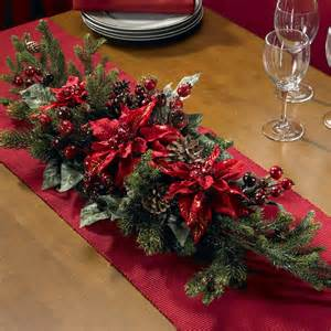 Christmas Wedding Centerpieces Tables - poinsettia amp berry centerpiece wreaths at hayneedle