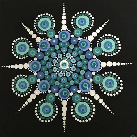 dot pattern mandala dot mandala hand painted on 8x8 stretched canvas dotting