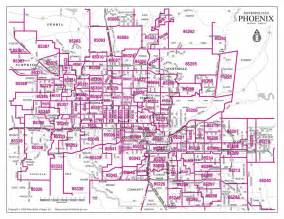 Phoenix Area Map by Phoenix Zip Codes Map