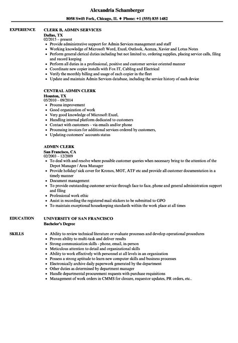 Resume Objective For Administrative Clerk by Administrative Clerk Resume Talktomartyb