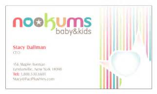 baby business cards corporate identity design for nookums baby fuelmybrand