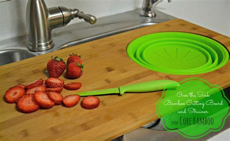 over the sink cutting board with strainer over the sink bamboo cutting board and strainer the