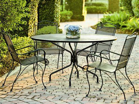 round wrought iron patio woodard tucson wrought iron dining set tsmsh
