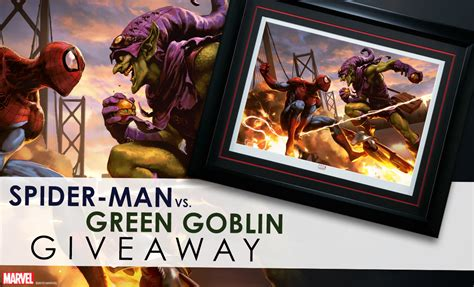 Print Giveaway - spider man vs green goblin framed print giveaway sideshow collectibles