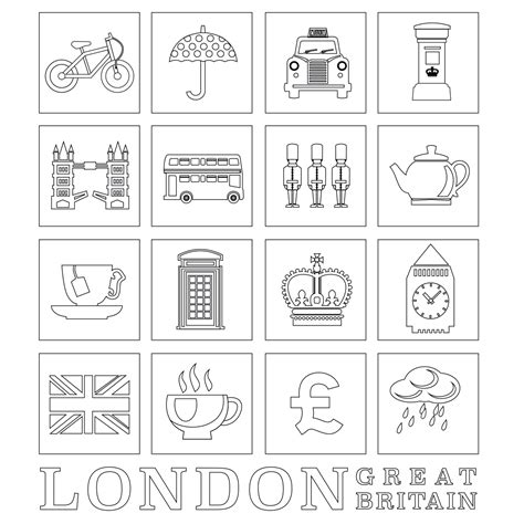 colouring sheets london free image