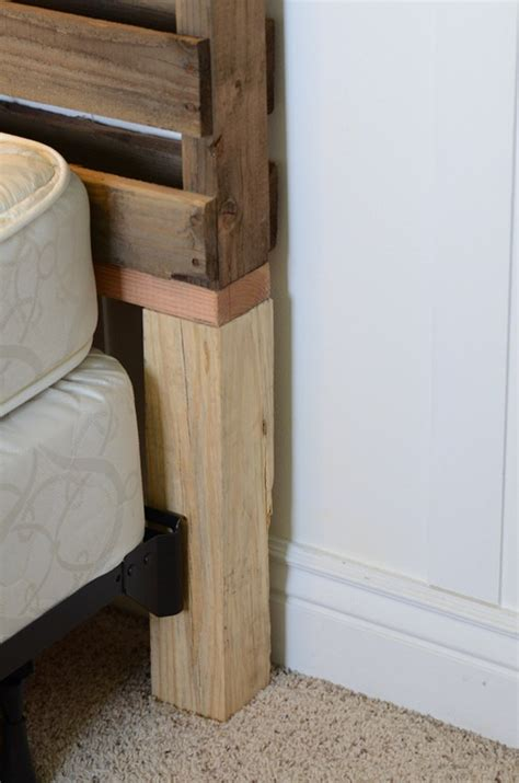 mounting a headboard to a bed frame world s easiest pallet headboard crap i ve made