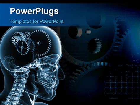 Powerpoint Template Skull With A Number Of Gears 3991 Engineering Powerpoint Templates