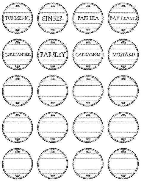 19 Best Free Printable Spice Labels Images On Pinterest Spice Jar Labels Free Printable And Spice Jar Label Template Free