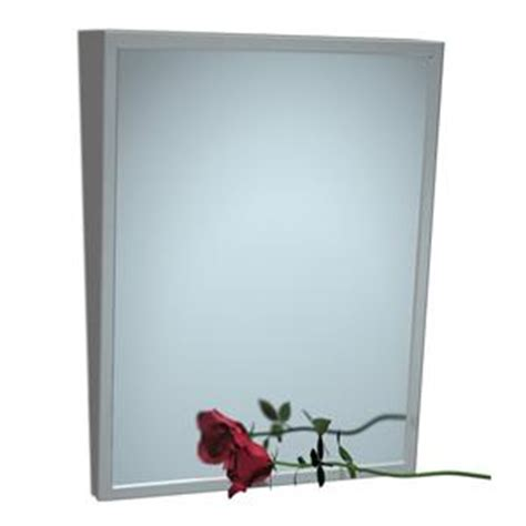 stainless steel angle frame mirror 24 quot x 36 quot modern asi 0535 fixed tilt mirror with stainless steel frame