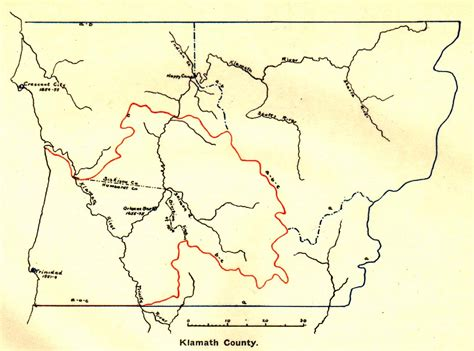 map of klamath oregon klamath county california