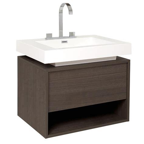 fresca vanity fresca potenza 28 in bath vanity in gray oak with acrylic