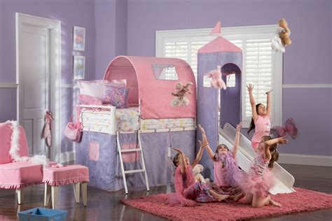 princes bed princess castle twin size tent bunk bed with slide powell 374 069