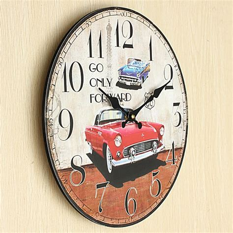 new retro vw car chic home bar vintage metal signs home ヾ ノnew large wall clock ᗔ car car vintage rustic