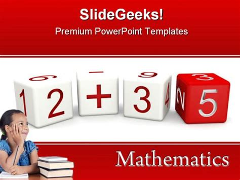 Mathematics Education Powerpoint Template 0610 Powerpoint Math Templates