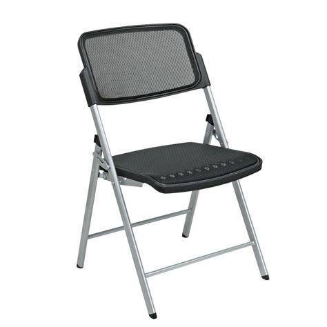 pro line ii black progrid folding chair set of 2 81608