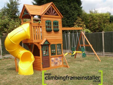 swings slides and climbing frames goldenridge playset archives climbing frame installer