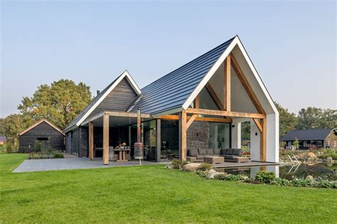 minimalist modern country villa   rural setting
