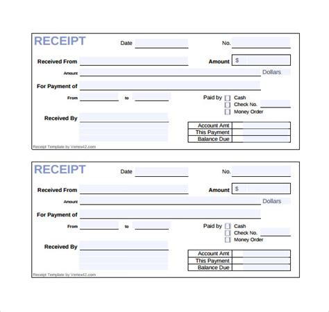 purchase receipt template free sle sales receipt template 17 free documents in word