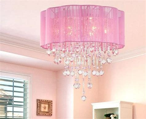 l shades for girls bedroom pink drum shade crystal ceiling chandelier pendant light