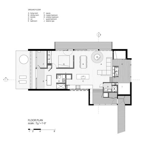 modern bungalow floor plans modern cottage floor plans