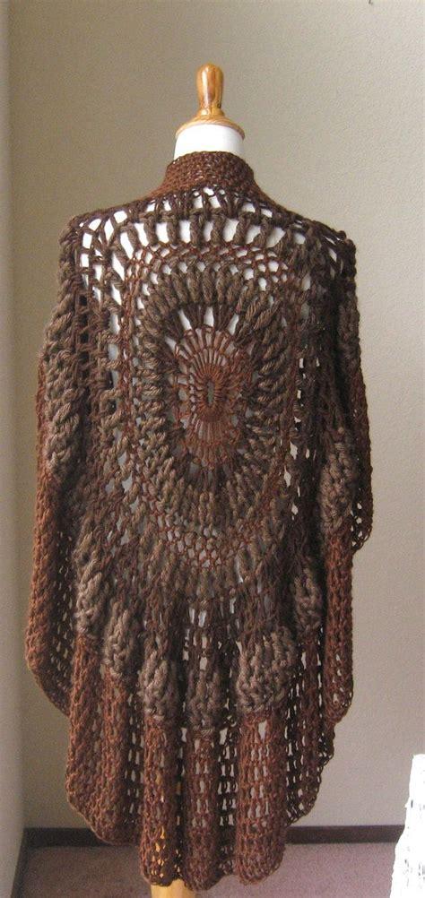 brown pattern poncho brown poncho boho chic crochet bohemian yoga poncho shawl