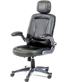 Office Chairs With Headrest Black Office Chair W Headrest In Contemporary Style 44f8506