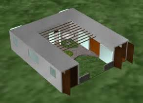 Shipping Container Home Design Tool Like The Thought Of A Courtyard In The Center Could Be An