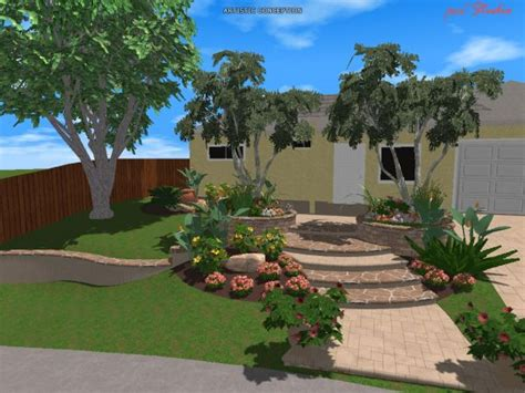 City Backyard Landscaping Ideas Exceptional 3d Landscape Design 3 3d Landscape Design