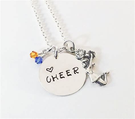 cheer charm necklace necklace with sterling