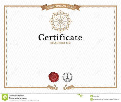 certificate design beautiful certificate template and element stock vector image