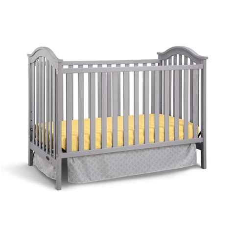 Graco Crib Convertible Graco Ashland Classic Convertible Crib In Pebble Gray 04520 34f