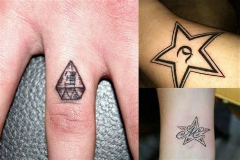 diamond tattoo with initials best small and cute tattoo designs for fingers ring and index