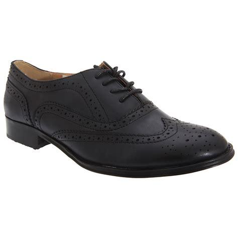 boulevard womens lace brogue shoes ebay
