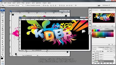tutorial photoshop dispersion effect bahasa indonesia tutorial photoshop cs3 bahasa indonesia membuat text 3d