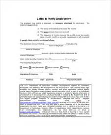 Self Employment Letter Sle Employment Verification Letter 7 Documents In Pdf Word