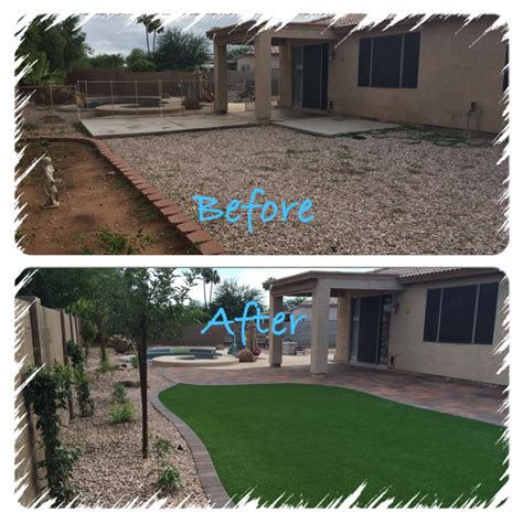Arizona Backyard Landscaping Ideas by Yard Remodel Archives Arizona Living Landscape Design