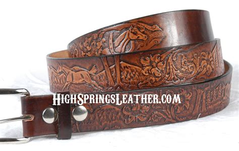 western leather name belt