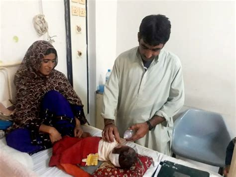 how pakistani make baby head pakistani infant with lump bigger than her head undergoes