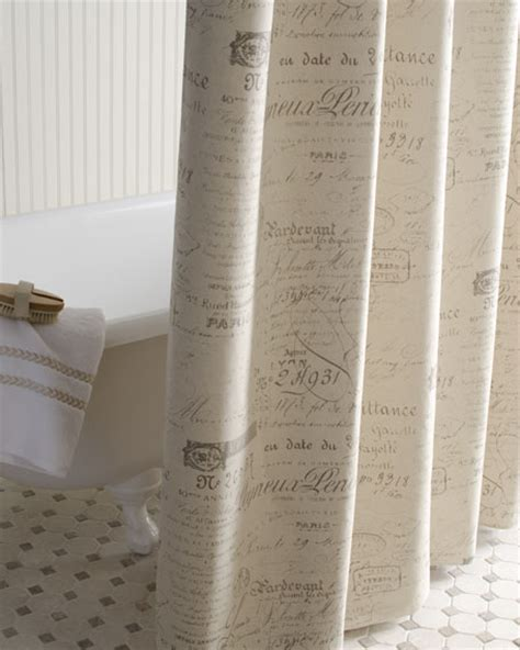 french script curtains french laundry home quot french script quot shower curtain