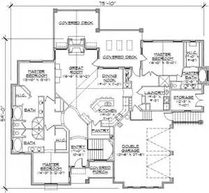 one story floor plans with two master suites 3 master suites home plans