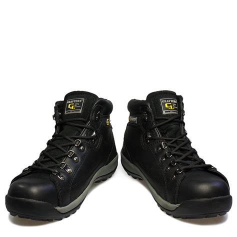 Cordia Lacoste Safety Boots grafters mens safety boots leather lace toe work shoes m434a ebay