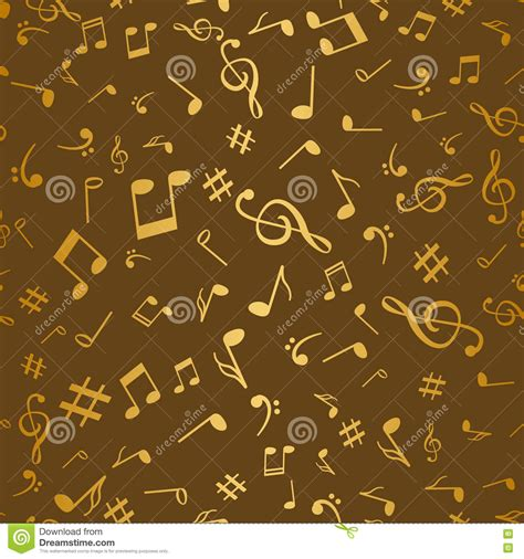 notes pattern background abstract golden music notes seamless pattern background