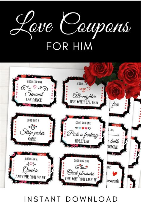 valentines day coupons for him 25 best ideas about coupons for him on