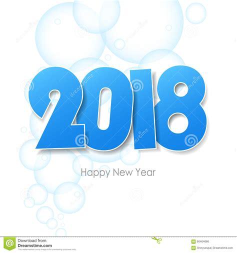 clipart buon anno cartolina d auguri 2018 buon anno illustrazione di