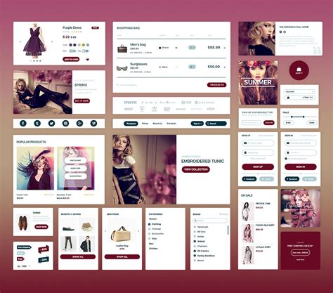ecommerce app ui free psd download download psd download free elegant fashion ecommerce ui kit free psd