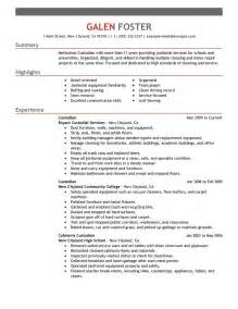 resume example janitor 2