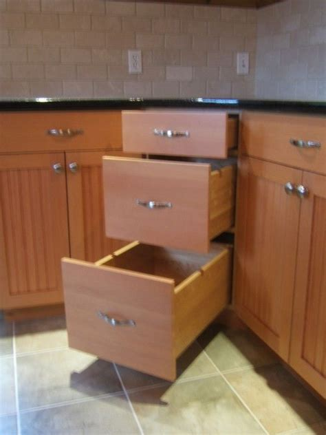 Kitchen Base Cabinets With Drawers by 25 Best Ideas About Corner Cabinet Kitchen On Pinterest